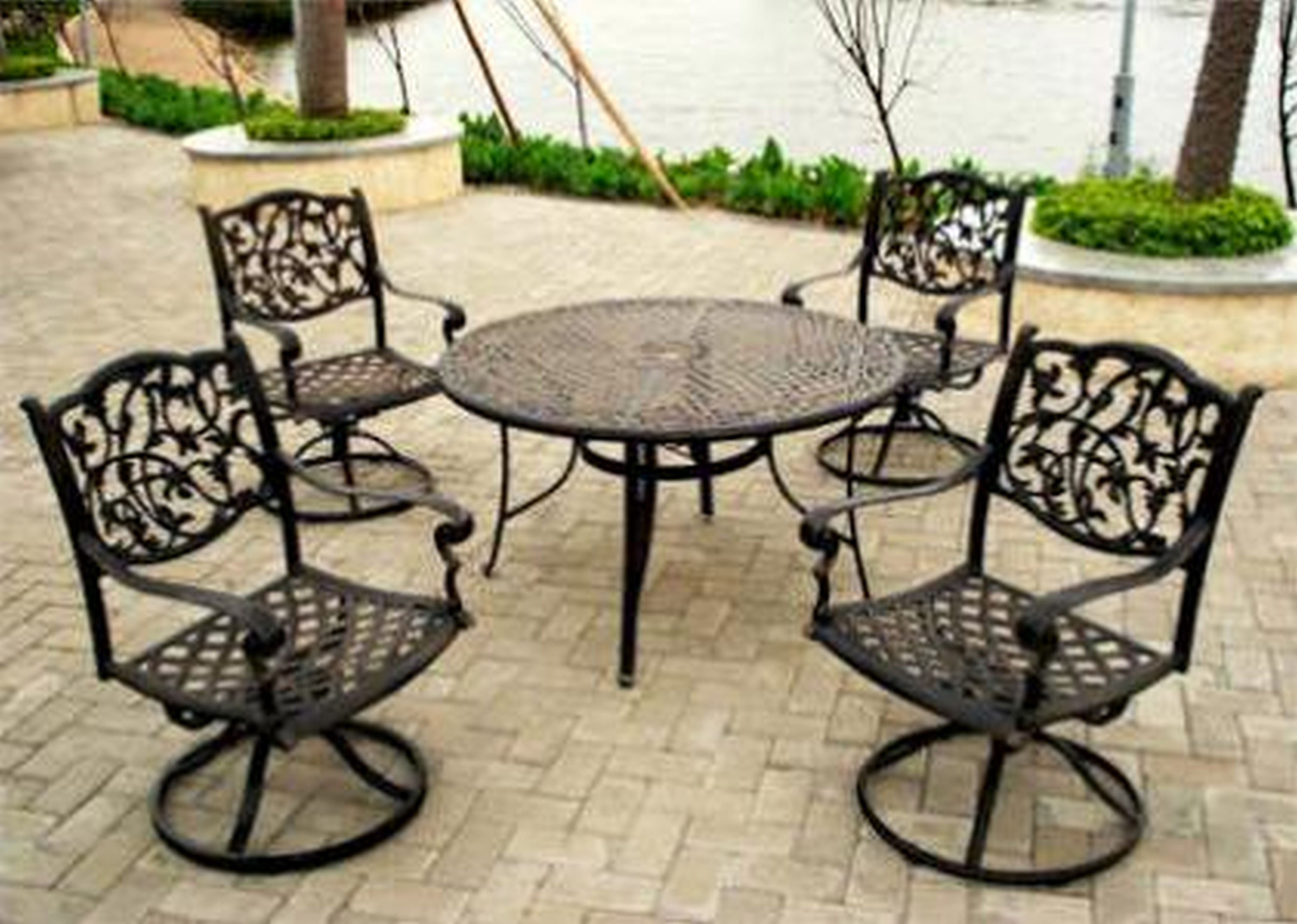 Best Outdoor Wrought Iron Patio Furniture With Garden Furniture