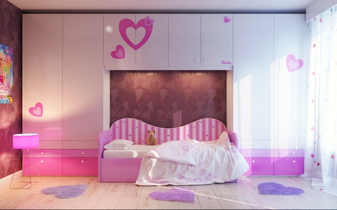 Feminine Bedrooms Adorable Minimalist Girl Bedrooms Ideas With Modern Pink Bed Idea Plus Charming Purple Small Rugs Ideas Admirable Girl Bedroom Ideas Design With Feminine Motive