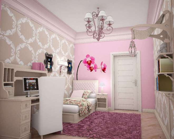 Girls Bedrooms Fabulous Small Bedroom Ideas Design Comes With Admirable White Chair Ideas Design Likewise Attractive Purple Chandelier Decor Admirable Girl Bedroom Ideas Design With