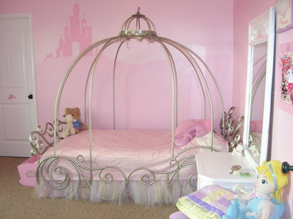 Bedrooms Beautiful Princess Canopy Style For Bed With Mirrored And White Dresser Table Also Bubblegum Castle Wallpaper Picturesque Design Beds Canopy Style X Helda Site Furnitures Home Design