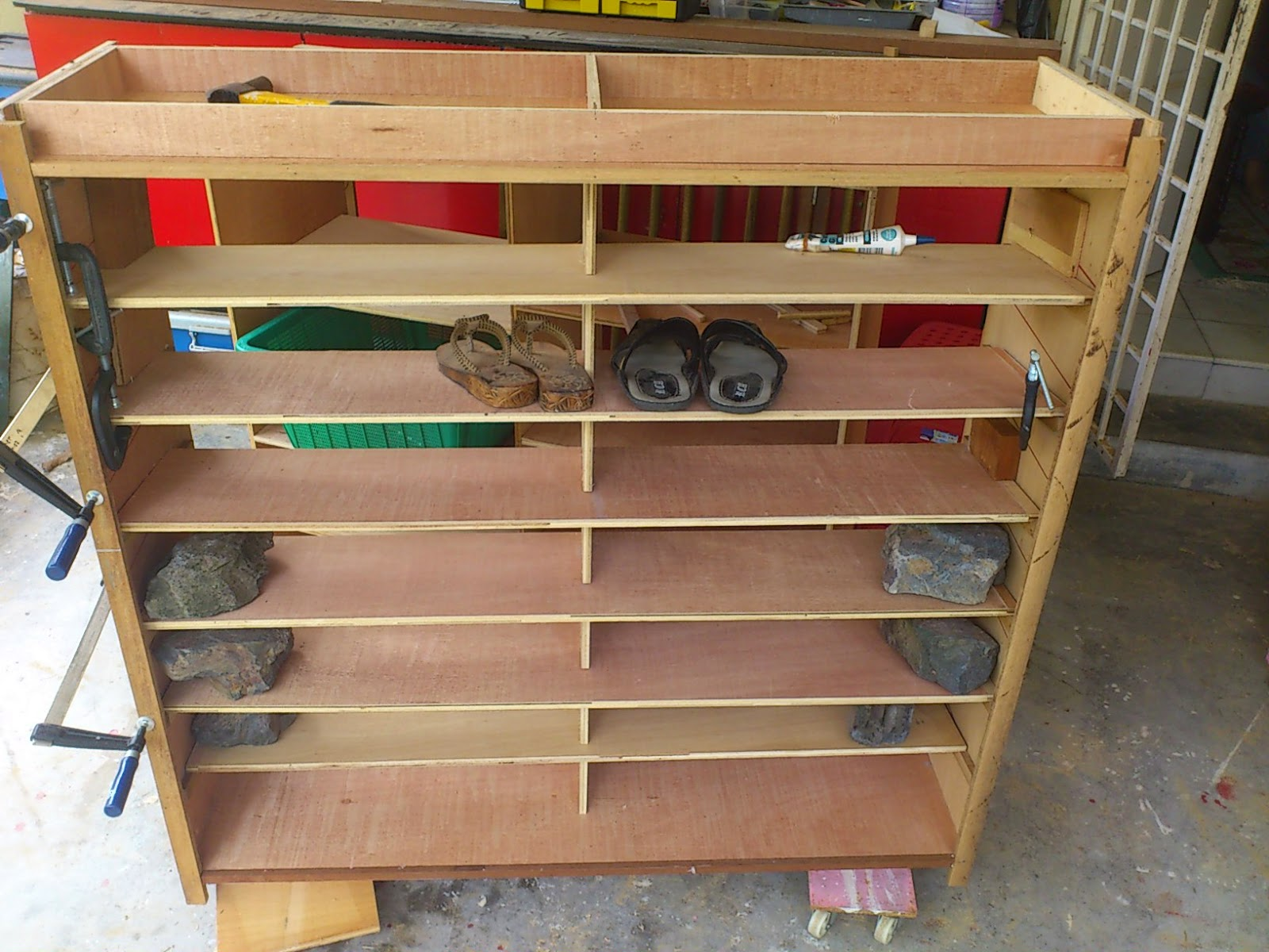 shoe wooden cheap storage two household rack tier
